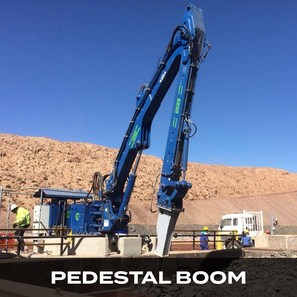 pedestal rock breaker boom