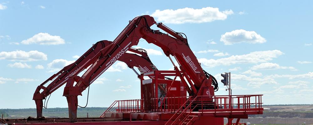 McQuaid Engineering Stationary Rock Breaker Boom