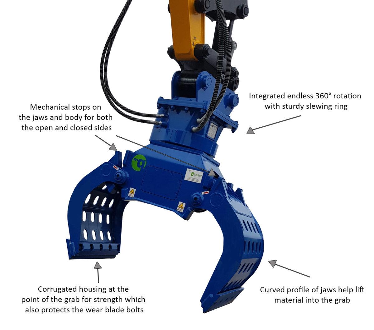 McQuaid Engineering Demolition Grab - Sorting Grab - Selector Grab