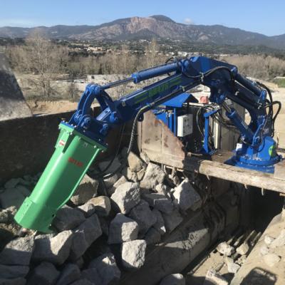 Stationary Rock Breaker Boom, McQuaid Engineering, SECA Quarry